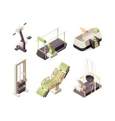Rehabilitation center training equipment vector