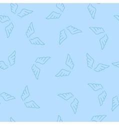 Romantic Angel Wings Seamless Pattern vector