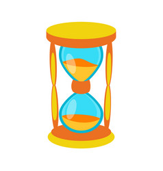 sand clock time measurement instrument vector image