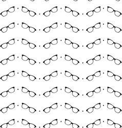 Seamless black and white pattern with eyeglasses vector