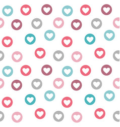 seamless pattern with pastel colored heart motif vector image