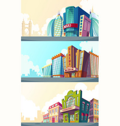 Set cartoon an urban vector