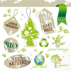 set of new ecological elements vector image