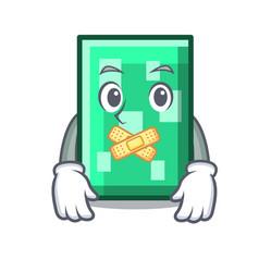 Silent rectangle mascot cartoon style vector