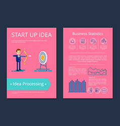 start up idea and processing vector image