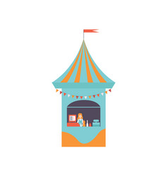 street vendor booth with fast food market food vector image
