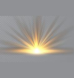 Sunrise sunlight special lens flash light effect vector