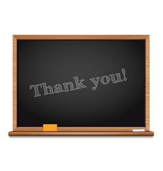 thank you chalkboard inscription vector image