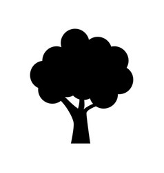 tree icon filled black icon at white vector image