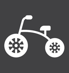Tricycle solid icon bike and toy vector