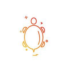 turtle icon design vector image