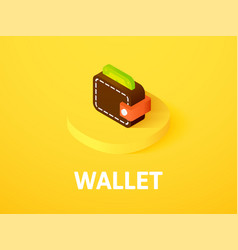 wallet isometric icon isolated on color vector image