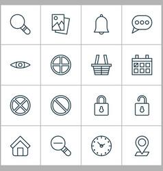 Web icons set with safeguard landscape photo vector