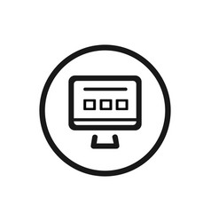 website line icon on a white background vector image