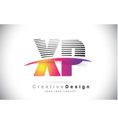 Xp x p letter logo design with creative lines and vector