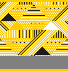 Yellow and black geometric modern seamless pattern vector