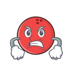 Angry bowling ball character cartoon vector