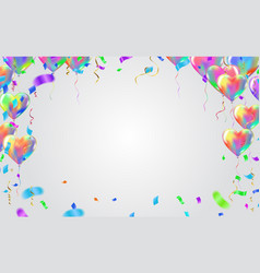 balloon banner template abstract colorful vector image
