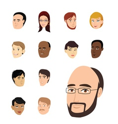 faces collection vector image vector image