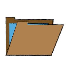folder paper file office business document vector image