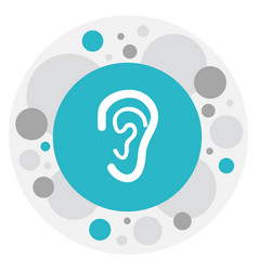 Of hospital symbol on ear icon vector