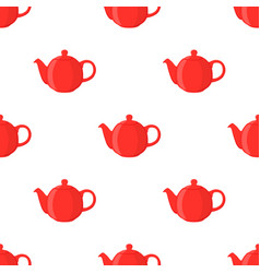 red teapotseamless pattern vector image