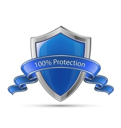 100 percent protection shield vector image