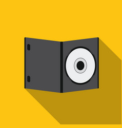 dvd with movie icon in flat style isolated on vector image vector image