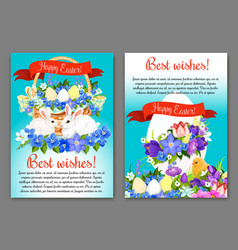easter greeting card and poster template design vector image