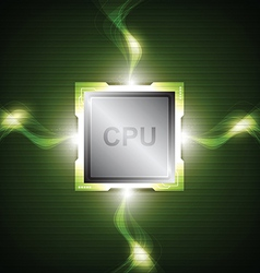 green power processor vector image