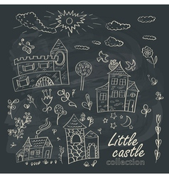 Little castles vector image