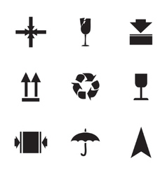 marking of cargo icons set vector image
