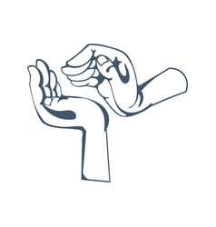 symbolizing respectful attitude warmth kindness vector image