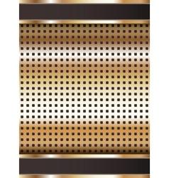 Background template copper metallic texture vector image vector image