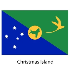 Flag of the country christmas island vector image