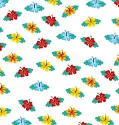 hawaii flower design vector image