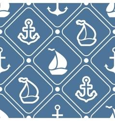 Seamless pattern of anchor sailboat shape vector image vector image