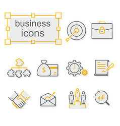 thin line icons set business vector image vector image