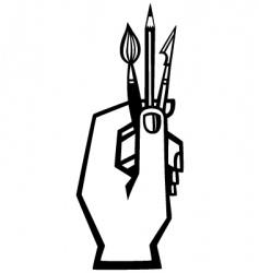artists hand vector image vector image