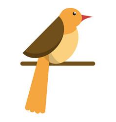 bird dove fauna fly icon vector image vector image
