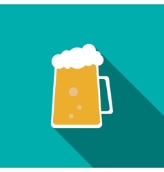 Cold beer icon flat style vector image