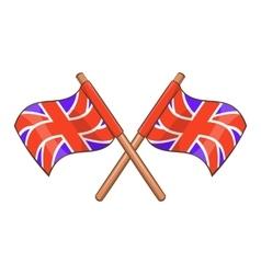 Great Britain flag icon cartoon style vector image vector image