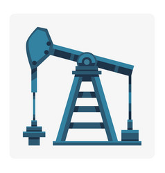 oil industry production station extracting cartoon vector image