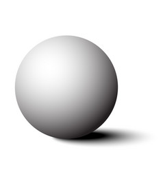 3d white sphere with shadow vector