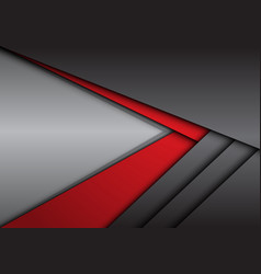 Abstract red grey metallic arrow direction vector