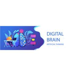 artificial intelligence concept header vector image