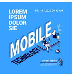 banner mobile technology vector image