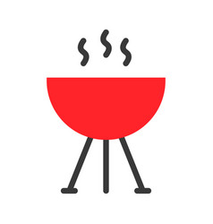 Barbecue grilled sign restaurant related flat vector