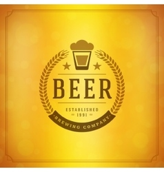 Beer Logo Design Element in Vintage Style vector image vector image