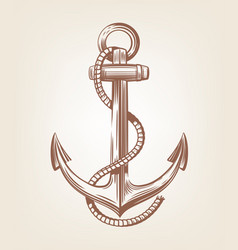 Black nautical anchor vector